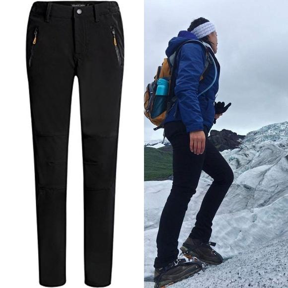 Camii Mia Womens Winter Outdoor Windproof Waterproof Skiing Fleece Snow Pants